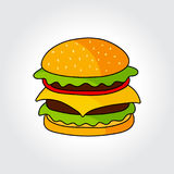 Hamburger vector icon. Stock Photography