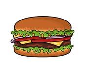 Hamburger. Vector illustration of a hamburger Stock Photo