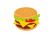 Hamburger vector illustration Royalty Free Stock Photos