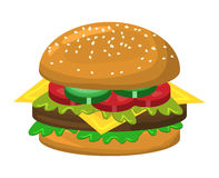 Hamburger vector symbol icon design. Stock Photography