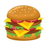 Hamburger vector symbol icon design. Royalty Free Stock Photos