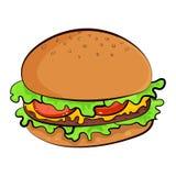 Hamburger vectorillustratie stock illustratie
