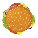 Hamburger, vectorpictogram Gedetailleerd vectordiepictogram op witte achtergrond wordt geïsoleerd royalty-vrije illustratie