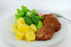 Hamburger with vegetable,salad Royalty Free Stock Photography