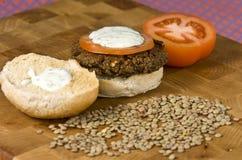 Hamburger vegetal Fotos de Stock