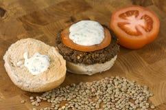 Hamburger vegetal Fotografia de Stock