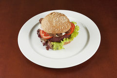 Hamburger vegetariano Fotografia Stock