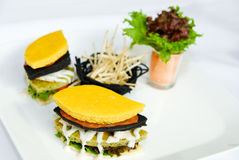 Hamburger vegetariano Fotografia Stock Libera da Diritti