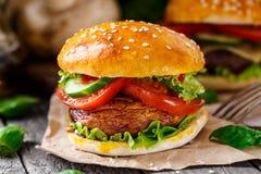 Hamburger vegetariano immagine stock libera da diritti