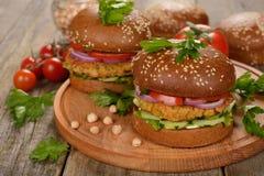 Hamburger vegetariano fotografie stock libere da diritti