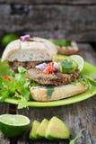 Hamburger vegetariano immagine stock