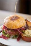 Hamburger vegetariano del Falafel fotografia stock libera da diritti