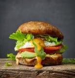 Hamburger vegetariano fresco immagine stock