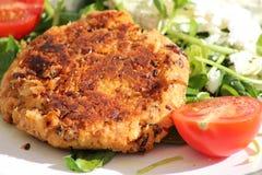 Hamburger vegetariano sano del fagiolo fotografia stock