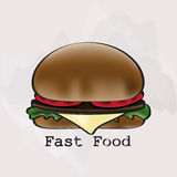 Hamburger in a watercolor style Royalty Free Stock Image