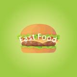Hamburger web icon. vector illustration. Eps 10 Royalty Free Stock Photography