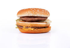 Hamburger on white Stock Image