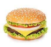 Hamburger  on white Royalty Free Stock Photo
