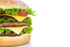 Hamburger on white background Royalty Free Stock Photo