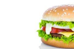 Hamburger on white background Stock Images