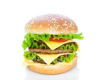 Hamburger on white background Royalty Free Stock Images