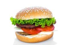 Hamburger on white background Stock Photography