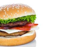 Hamburger on white background Royalty Free Stock Photography