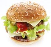Hamburger on a white background. Royalty Free Stock Photos