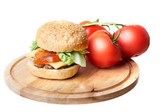 Hamburger on white Royalty Free Stock Photography