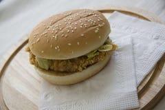 Hamburger on white Royalty Free Stock Image