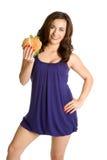 Hamburger Woman Stock Images