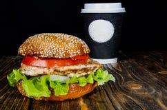 Hamburger z kurczakiem Fotografia Stock