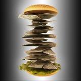 Hamburger z pieniądze Fotografia Royalty Free