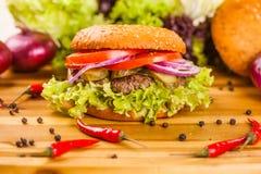 Hamburger z wołowiny cutlet Obraz Stock
