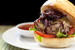 hamburger zdrowy Obraz Stock