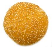 Hamburgerbrood op wit wordt geïsoleerd dat Stock Fotografie