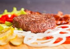 Hamburgeringrediënten Stock Fotografie