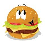 Hamburgerkarikatur Lizenzfreies Stockfoto