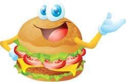 Hamburgerkarikatur Lizenzfreie Stockfotos