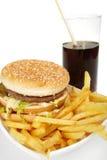 Hamburgermahlzeit Stockfotografie