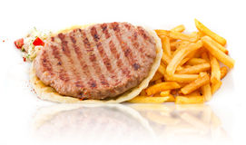 Hamburgerpasteitje Royalty-vrije Stock Afbeeldingen
