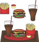 Hamburgerplatte Stockfotografie