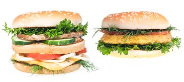 Hamburgers Royalty Free Stock Photo