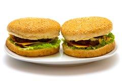 Hamburgers photos libres de droits