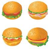 Hamburgers. Set. Illustration for you design stock illustration