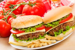 Hamburgers Stock Photos