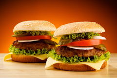 Free Hamburgers Royalty Free Stock Photography - 21113007