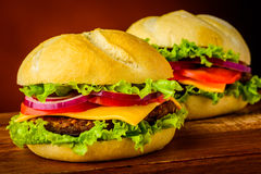Hamburgers Images stock