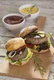 Hamburgers Royalty-vrije Stock Foto's