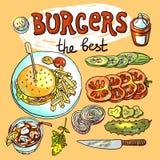 Hamburgers illustration libre de droits